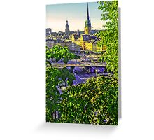 A peek of the Old Town, Stockholm. Greeting Card