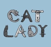 Cat Lady - Cat Letters - Grey by graphix