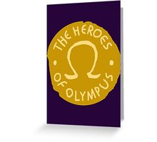 Heroes Of Olympus Greeting Card