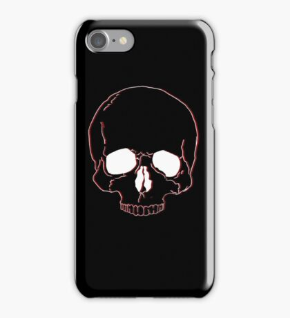 Black and Red Skull iPhone Case/Skin