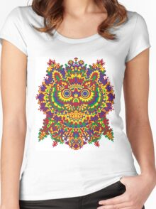 Louis Wain - Cat Owl Women's Fitted Scoop T-Shirt