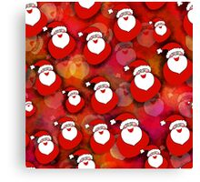 Santa Claus pattern Canvas Print