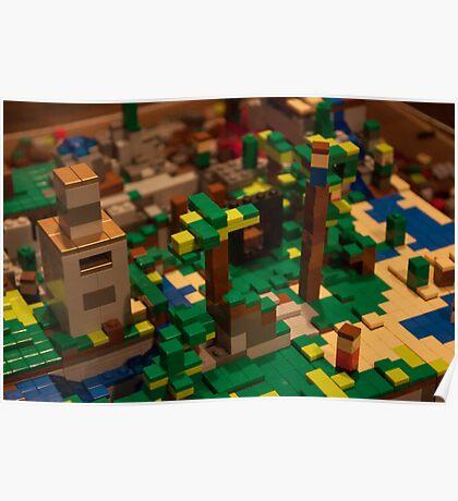 Minecraft Legos Poster