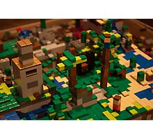 Minecraft Legos Photographic Print