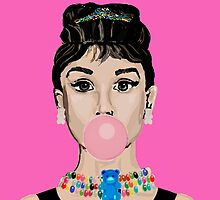 Audrey Hepburn Bubblegum and Gummy Bears by underwatercity