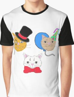 Cute  Cats in Hats  Graphic T-Shirt