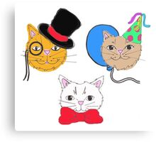Cute  Cats in Hats  Canvas Print