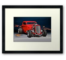 1933 Ford Coupe 'In one of her moods' Framed Print
