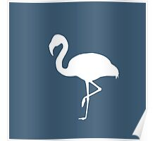 Flamingo Blue Poster