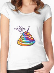 Poopcorn (I Am Magical Too!) Women's Fitted Scoop T-Shirt