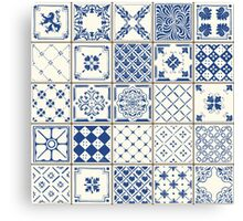Blue Ceramic Tiles Canvas Print
