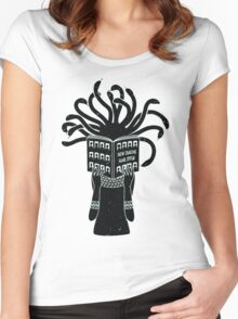 Medusa hairstyle  Women's Fitted Scoop T-Shirt
