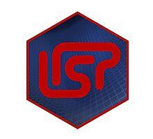 lisp programming language hexagonal hexagon sticker Photographic Print