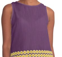 Yellow Rose on Purple Contrast Tank
