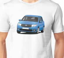 Dacia Sandero - blue - illustration Unisex T-Shirt