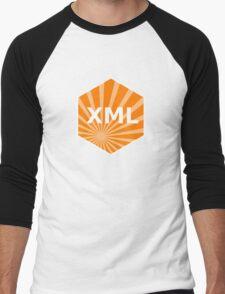 xml programming language hexagonal hexagon sticker Men's Baseball ¾ T-Shirt