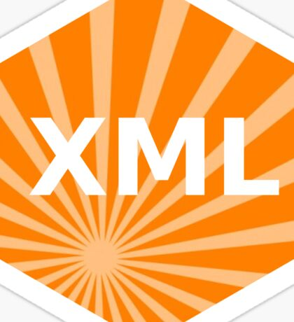 xml programming language hexagonal hexagon sticker Sticker