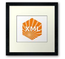 xml programming language hexagonal hexagon sticker Framed Print