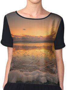 Foamy Sunset Chiffon Top