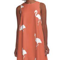 Flamingo Orange A-Line Dress