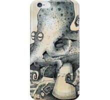 Octopus on mushroom iPhone Case/Skin