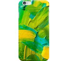 Green, yellow & aqua paint texture iPhone Case/Skin
