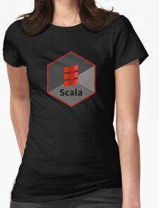 scala programming language hexagonal hexagon sticker Womens Fitted T-Shirt