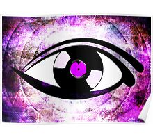 Eye Heart Vinyl (I Love Vinyls) Modern Conceptual Art Vinyl Records Music Poster