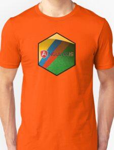 angularjs programming language hexagonal hexagon sticker Unisex T-Shirt