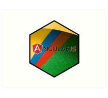 angularjs programming language hexagonal hexagon sticker Art Print