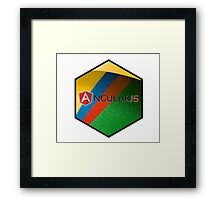 angularjs programming language hexagonal hexagon sticker Framed Print