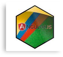 angularjs programming language hexagonal hexagon sticker Metal Print