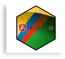 angularjs programming language hexagonal hexagon sticker Canvas Print