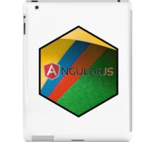 angularjs programming language hexagonal hexagon sticker iPad Case/Skin