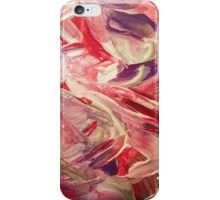 Magenta, purple and opal paint texture iPhone Case/Skin