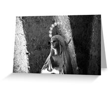 Madonna Statue Greeting Card