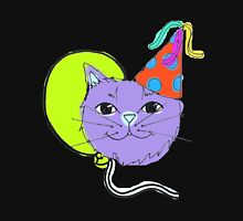 Cute Purple Party Cat Unisex T-Shirt