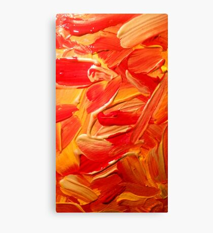 Gold, red and yellow paint texture  Canvas Print