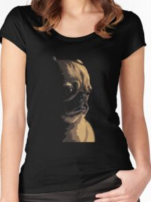 Sad Pug Women's Fitted Scoop T-Shirt