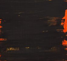 Hand painted brown with a tint of orange by Monika Malinowska