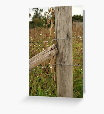 Rusty Nail in a Fence Greeting Card