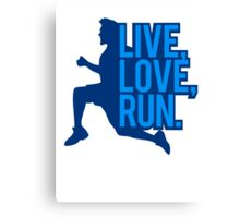Saying sports man live love run Canvas Print