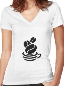 Cup of coffee Women's Fitted V-Neck T-Shirt