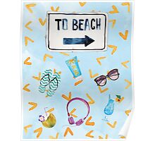 To Beach  Poster