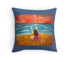 Meditating with the Elements Throw Pillow