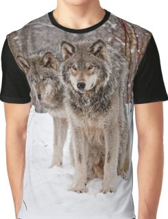 Timber Wolf Pair Graphic T-Shirt