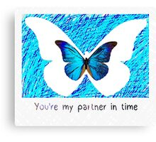 Chloe Price - partner in time (blue butterfly) Canvas Print