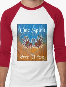One Spirit One Love One Tribe Men's Baseball ¾ T-Shirt