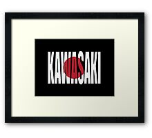 Kawasaki. Framed Print
