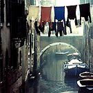 Washday, Venice Italy by Wayne King